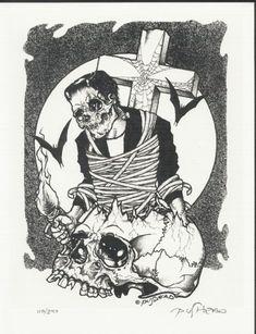 Art by Pushead. Arte Horror, Horror Art, Anubis, Skate Art, Lowbrow Art, Memento Mori, Stop Motion, Macabre, Art Google
