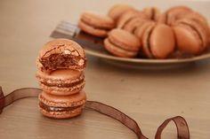 Macarons au chocolat / czekoladowe makaroniki