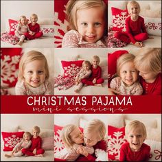 Christmas Pajama Session - Christmas Mini Session - Holiday Mini Session - Christmas Photos - Christmas Card Photos - Holiday Portraits.