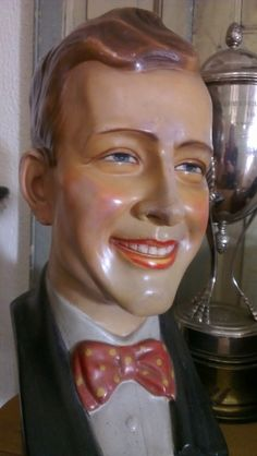 Vintage male mannequin store display bust