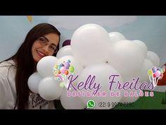 Como Fazer Nuvens de Bexiga - DIY Balloons Clouds - YouTube