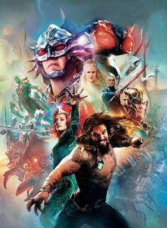 Den of Geek revealed their San Deigo Comic-Con 2018 Special Edition magazine cover today, and it features the main cast of Aquaman. The new magazine cover gives fans a new look at Jason Momoa as Aq… Patrick Wilson, New Aquaman, Aquaman 2018, Aquaman Film, San Diego Comic Con, Nicole Kidman, Jurassic World, Marvel Dc, Soundtrack