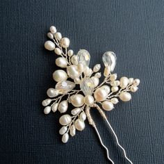 Hey, I found this really awesome Etsy listing at https://www.etsy.com/listing/194329782/bridal-flower-hair-pin-ann-hair-pin