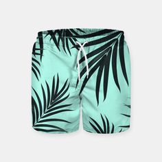 a53c11a2d0 Palm Leaves Pattern Summer Vibes Us Swimming, Swim Shorts, Summer Vibes, Swim  Trunks