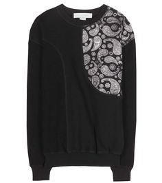 Printed black cotton sweatshirt