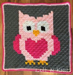 Owls, Foxes and Coons-Oh My! — Left in Knots ~ graphs for all three so make pillows, granny square blanket, etc. ~ FREE - CROCHET