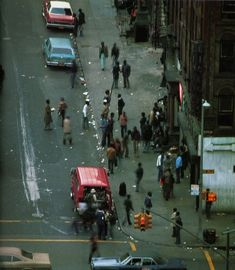 """The pictures were taken from the book """"The Pavements of New York"""" - photography by Nicolai Canetti and commentary by Sandy Leesberg. The pa. New York Pictures, New York Photos, New York City, Harlem New York, New York Photography, 1970s Photography, New York Architecture, City Pages, 42nd Street"""