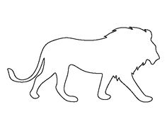 Lion pattern. Use the printable outline for crafts, creating stencils, scrapbooking, and more. Free PDF template to download and print at http://patternuniverse.com/download/lion-pattern/