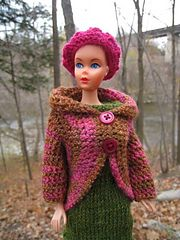 Ravelry: Free Barbie Crochet Circle Jacket pattern by Kelly Mullan