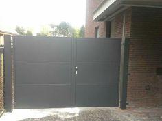 Aluminium poort . Moderne draaipoort . Bezoek ook onze facebook pagina.