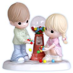 """Precious Moments Porcelain Figurine: """"I Count My Blessings Every Day With You"""" $60.00"""