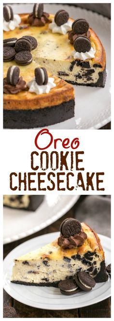 Luscious, dreamy Oreo Cheesecake with Oreo Cookie Crust #cheesecake #Oreos