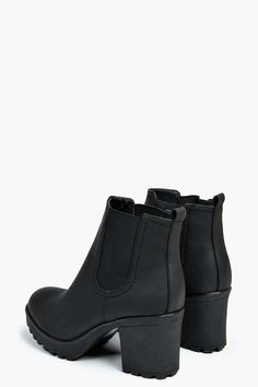 cdbb4df67dd Chunky Cleated Heel Chelsea Boots