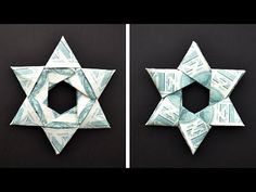Origami Money Star Origami Christmas Tree With Star Art Gift And 29 Similar Items. Origami Ball, Origami Love, Origami Folding, Origami Stars, Origami Paper, Paper Folding, Folding Money, Origami Money Flowers, Oragami Money