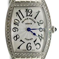 Franck Muller Women's Quartz Curvex Watch Diamond Bezel 1752 QZ D Authentic #FranckMuller #LuxuryDressStyles