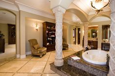 old world tuscan bathrooms | previewfirst.com | Old World/Tuscan Bathrooms and Powder Bathrooms