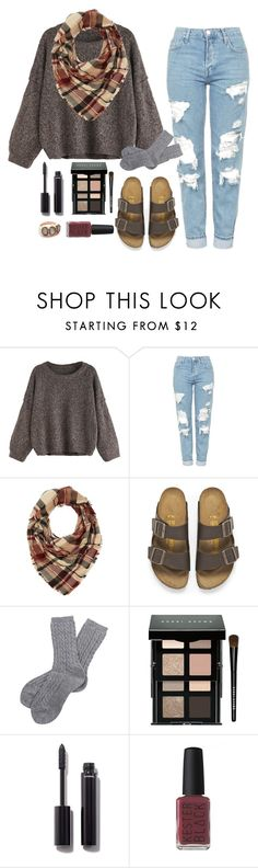 """""""Outfit 223"""" by xkhione ❤ liked on Polyvore featuring Topshop, Charlotte Russe, Birkenstock, Barbour, Bobbi Brown Cosmetics, Chanel, Kester Black and Arik Kastan"""