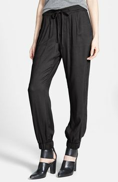 Lily White Drawstring Soft Pants (Juniors) (Online Only) available at #Nordstrom
