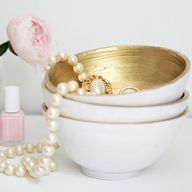 Gold and White Bowls