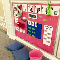 Phonics Display, Literacy Display, Reading Display, Phonics Games, Phonics Reading, Teaching Phonics, Jolly Phonics Activities, Primary Teaching, Teaching Activities