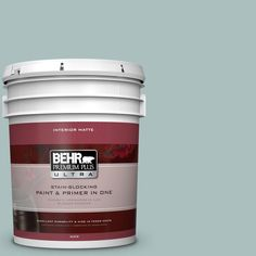BEHR Premium Plus Ultra 5 gal. #hdc-CL-15G Morning Parlor Matte Interior Paint