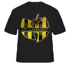 hip hop shirts for men | Mens Wu Tang Clan T Shirt Killa Bees Hip Hop Rap Logo T Shirt | eBay