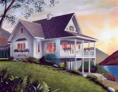 Lakefront House Plan chp-6807 at COOLhouseplans.com