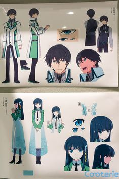 The Irregular at Magic High School Character Model Sheets