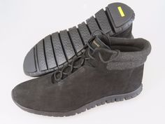 COLE HAAN Zerogrand Black Nubuck Perforated Leather Chukka Ankle Boots Women 9.5 #ColeHaan #AnkleBoots