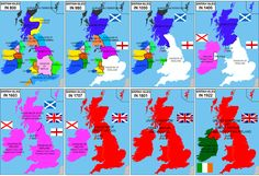 British Isles Unification 800 A.D. - 1922 A.D. [900 x 620]
