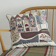 Houses Appliqué Cushion