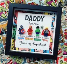 Excited to share this item from my shop: Daddy You are my Superhero Frame, Daddy Shadowbox, Daddy from Child superhero gift, Father's Day gift, Daddy Birthday Gift Diy Birthday Gifts For Dad, Homemade Fathers Day Gifts, Diy Gifts For Dad, Cool Fathers Day Gifts, Diy Father's Day Gifts, Fathers Day Presents, Father's Day Diy, Fathers Day Crafts, Daddy Gifts