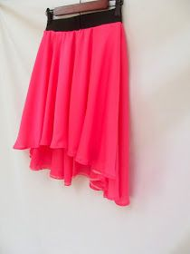 Morning by Morning Productions: Circle Skirts Reinvented - Hi/Low and Asymmetrical Hemlines