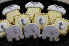 Elephant and Chevron Cookies ~ 4 The Love of Cookies