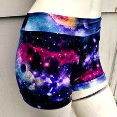 Black hole Galaxy Nebula bikini boyshort shorts by thegeekgarden, $30.00