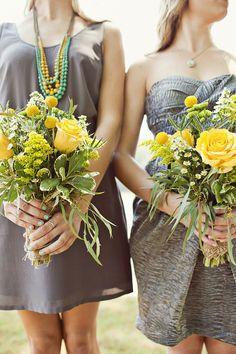 Southern weddings, Southern wedding ideas, gray and yellow wedding