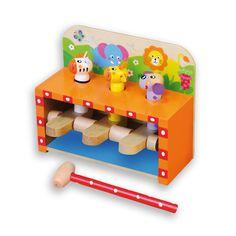 Banco Andreu Toys golpea y salta. ¡Golpea fuerte y haz saltar a los animales! Tus peques se lo pasarán pipa picando fuerte para hacer saltar los animalitos. Para niños de más de 1 año. Este juguete educativo fomenta la coordinación ojo-mano.