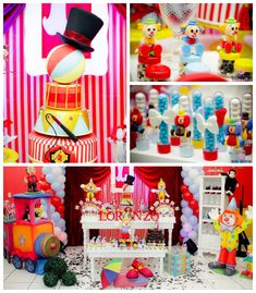 Circus themed birthday party with Such Cute Ideas via Kara's Party Ideas! Full of decorating ideas, cupcakes, cake, printables, games, favor...