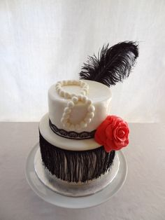 Flapper Cake!  (The top tier is Gluten Free)