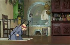 The kitchen from Howl's moving castle after Sophie cleans it and before he changes it. I love how it makes me feel. ~Elle