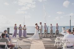 Jayme and Graeme: A wedding at the end of our famous jetty | Photo: Popcorn Photography |  #kingfisherbay #fraserisland #destinationwedding #fraserislandwedding #fraserwedding http://www.fraserislandweddings.com.au/ #AccorAustralia #Mercure