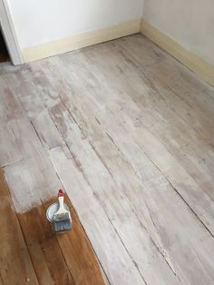 Plywood Floor Drew Lines For Boards And Dry Brush