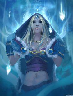 Картинка Crystal Maiden под падающими с неба льдинами из Dota 2 — Скачать картинки
