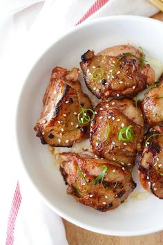 Asian Five-Spice Chicken - deeply flavorful and moist pan-fried skillet chicken marinated with Asian spices & sauces. So easy and so good   rasamalaysia.com