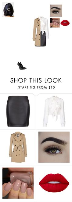 """""""Female Castiel"""" by fifty-shades-of-biersack ❤ liked on Polyvore featuring La Perla, Plein Sud, Burberry, Lime Crime and Yves Saint Laurent"""