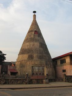 The Zangbeto temple in Porto-Novo in Benin: Zangbeto are the traditional voodoo guardians of the night in the Yoruba religion. Zanbeto act as an unofficial police force and are highly regarded.