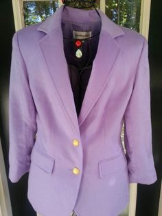 Bloomingdales Cashmere Blazer Exquisite Lavender Purple Size 6 Lined Jacket | eBay $99