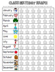 Free printable birthday graph! and first week ideas