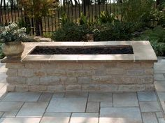 diy rectangular fire pit - Google Search