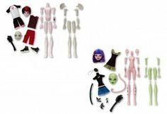Mattel Monster High Create-A-Monster Starter Set Assortment by Mattel. $34.50. All the body parts and fashions needed to create your own unique scary cool ghoul. Now kids can build their own Monster High doll!. Kit includes 2 torsos, 2 sets of limbs, 2 heads, 1 hairpiece, 2fashions and a unique add-on accessory. The pieces can be assembled in more than 250 ways!. Kids will enjoy creating their own monsters again and again. From the Manufacturer                Monster...
